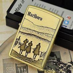 Etching Brass Marlboro Limited Edition Zippo Lighter
