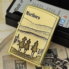 Etching Brass Marlboro Limited Edition Zippo Lighter