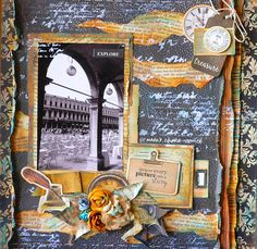 """Created for kaisercraft using """"StoryBook"""" paper collection. Love Scrapbook, Scrapbook Pages, Rustic Colors, Library Card, Some Cards, Any Book, Book Collection, Clear Stamps, Scrapbooking Layouts"""