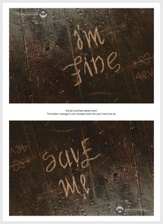 SOS: The Hidden Pain, I'm Fine / Save Me | Ads of the World™