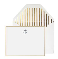 Navy Anchor Note set, Sugar Paper