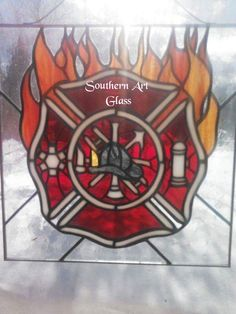 19 Best Stained Glass Fire Fighting Images Firefighters