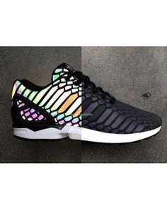 f91c2be5d Adidas ZX Flux Xeno Reflective Limited 3M Hologram B24441 Black Adidas Zx  Flux