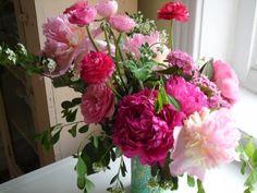 pink joy!  peonies and ranunculus