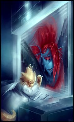 Farewell Undyne - Undertale Collab by WalkingMelonsAAA.deviantart.com on @DeviantArt