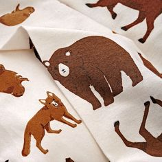 Shop Organic Animal Flannel Full-Queen Duvet Cover. Go wild with this animal flannel duvet cover. With more than enough wildlife for any outdoor theme kids bedroom, it features bears, moose, buffalo and more printed on 100% organic cotton.