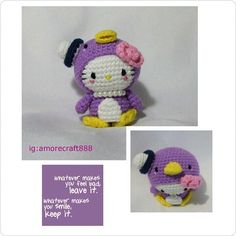 Hello kitty dress as tuxedo sam (purple)