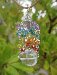 Chakra pendant with silver coloured wire. by CindysHealingCrystal  Go check her website out. Gorgeous pendants, very cheap and great quality and fast shipping.