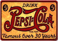 Pepsi Cola famous over 30 years fridge magnet.