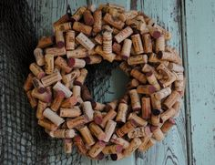 Wine Cork Wreath - Can Be Custom Ordered. $70.00, via Etsy.