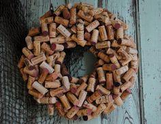 Wine Cork Wreath - Can Be Custom Ordered. $70.00, via Etsy.
