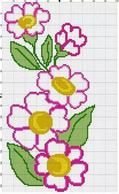 Cross Stitch Rose, Cross Stitch Borders, Cross Stitch Flowers, Counted Cross Stitch Patterns, Cross Stitch Designs, Cross Stitching, Cross Stitch Embroidery, Bead Loom Patterns, Beading Patterns