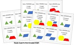 """Money is now a thing of the past and geometry is where it's at in room 102! We have been identifying 2D shapes and their characteristics, while also getting familiar with these shapes by PLAYING! I mean… """"composing"""" new shapes with pattern blocks and geoboards! I love geometry because it is all hands-on and the …"""