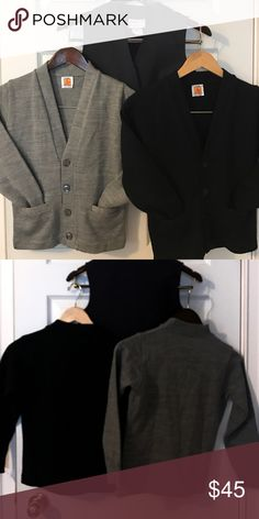 Private school clothing. Private school sweaters & vest. 1 navy cardigan, 1 navy vest (3button) & 1 gray cardigan. Other