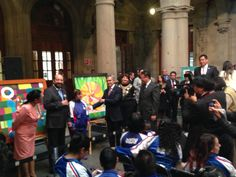 El #JefeDeGob, @Miguel Ángel Mancera, acudió a la Muestra Pictórica de Arte Down