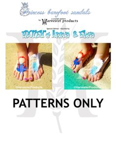 FROZEN Anna and Elsa Disney styled Princess Barefoot by HarvesterProducts, $4.95