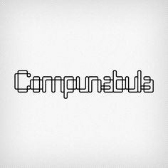 Like Corey's other typefaces, Compunabula began as a rejected logo for a client. He couldn't let go of the design and tried to use it for other projects, but it