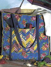 This Beach Bag is nice and Large. Wonderful pockets and easy to make.