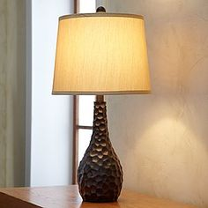 Hammered Walnut Table Lamp- JCP  Great Texture to this table lamp. Living Room.