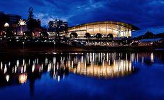 river torrens, adelaide #australia #night #reflections