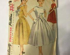 7b83d21fb años 50 completo de costura princesa falda vestido Vintage Vestidos Vintage