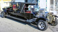 """cryptofwrestling: """" Not the Munster Koach, but a stretched hearse-ish rod! """""""