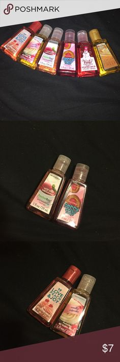 Bath and body work germ x 6 different scents, all of them are NEVER used Other