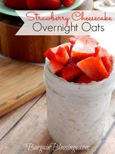Recipe: Strawberry Cheesecake Overnight Oats