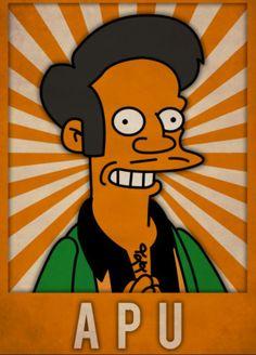 Apu, The Simpsons Simpsons Art, Old School Cartoons, Joker Batman, Futurama, Cartoon Wallpaper, Cartoon Characters, Bart Simpson, Cute Art, Pop Art