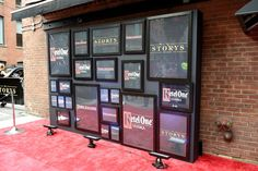 The names of sponsors such as Ketel One appeared in frames on a step-and-repeat outside of the building.