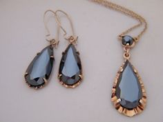 Vintage 10K Black Alaskan Diamond Hematite Gold  by AntiqueLockets, $500.00