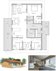 Small house plan, three bedrooms building plan, logical floor layout, affordable building budge. Floor Plan.