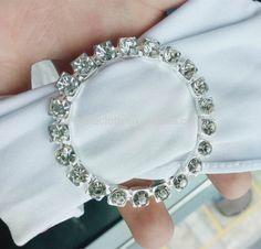 Shiny Wedding banquet stretch spandex diamond buckle chair sashes