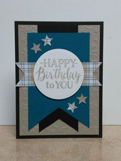Masculine Birthday Card-Blue by cmk7471 - Cards and Paper Crafts at…