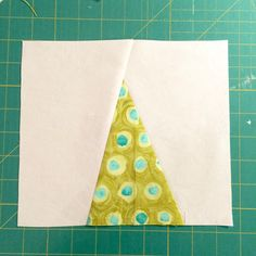 I sat down to sew again last night. I have been out of the sewing routine and it is surprisingly hard to get started on my ongoing project. Triangle Quilt Tutorials, Quilting Tutorials, Tree Quilt, Tree Patterns, Patchwork Designs, Pattern Blocks, Art Techniques, Textile Art, Trees