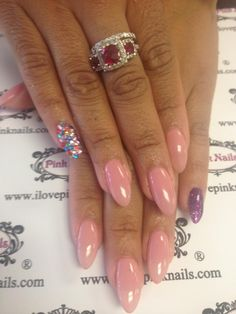 Pink Stelitto Nails