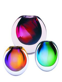 Hoglund art glass -- eclipse vase <3