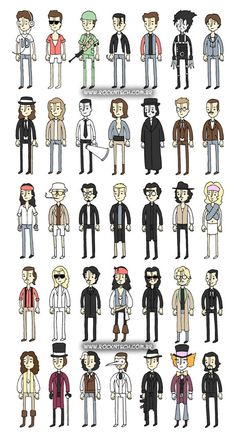 FOTOFUN – Johnny Depp e seus personagens.