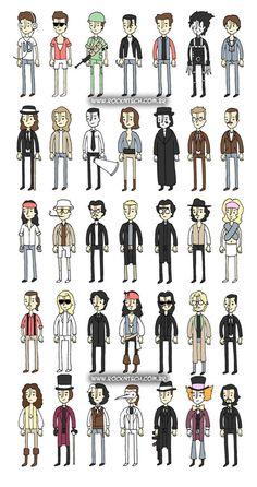 FOTOFUN – Johnny Depp e seus personagens.