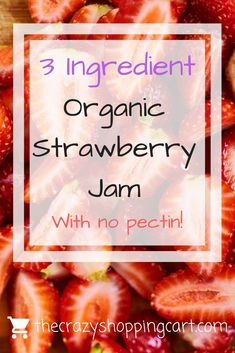 This strawberry jam is DELICIOUS! Looking for an easy strawberry jam recipe? This one is pectin-free and only has 3 ingredients! It tastes good, and it's healthy! You can make it with organic foods. Marmalade Recipe, Benefits Of Organic Food, Strawberry Jam Recipe, Healthy Recipes On A Budget, Cheap Recipes, Budget Meals, Jam Recipes, Cooker Recipes, Pasta Recipes
