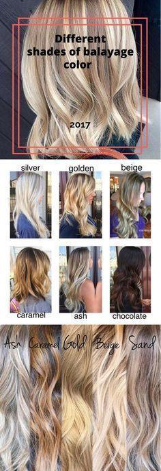 Examples of shades of balayage #Color hair color balayage #Hairstyles #Ombre #Balayage #FlamesBalayage#Splashlights