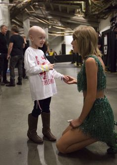 "taylor} ""i met this beautiful young girl backstage after the show last night."" i smile."