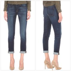 """JBrand Boyfriend Jeans NWT NWT! Cut to a slightly relaxed boyfriend-fit with a feminine edge, the Georgia jeans from J Brand will slot effortlessly into your wardrobe.  Stretch jeans Invited wash Exposed button and concealed button-fly fastening at front Slim-fit, boyfriend, cropped, mid-rise, faded wash and whiskering, distressed, contrast stitching, belt loops, five pockets, branded hardware 98% cotton, 2% elastane  Rise 9"""", inside leg 28"""", leg opening 12"""" Made in USA J Brand Jeans…"""