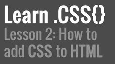 Easy video explanation of how to add CSS to your HTML file