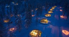 The Hotel Kakslauttanen and Igloo Village in Finland is home to unique thermal glass igloos that offer some of the best views of the Northern Lights. (Courtesy of Hotel Kakslauttanen and Igloo Village) Glass Igloo Northern Lights, Northern Lights Viewing, See The Northern Lights, Northern Lights Hotel, Igloo Village, Village Hotel, West Village, Lappland, Unique Hotels