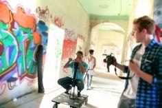 Dreharbeiten im Anscharpark Kiel, Juli 2014 Foto: Frank Schmerschneider Fair Grounds, Fun, Movie, Kiel, Fin Fun