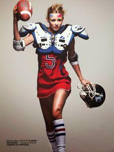 Natalie Siodmiak by David Bellemere for Vogue Turkey April 2014 – American Football Sport Fashion, Look Fashion, Teen Fashion, Sport Editorial, Editorial Fashion, Sport Chic, Sport Casual, American Football Movies, Football Fashion