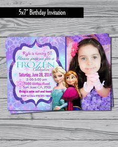Frozen birthday party invitation on Etsy, $12.00