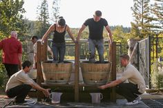 Grape stomping, team cooking, #wine tasting and more! Sounds like a great time at the Sonoma County Grape Camp. Repin if you're in!