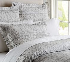 Pearson Snowflake Duvet Cover & Sham #potterybarn  The only duvet I would ever switch to for the Holidays